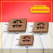 Embalagens com Visor para Salgadinhos e Docinhos KRAFT (3 Tamanhos)