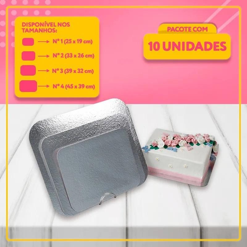 Base Laminada Para Bolos - Cakeboard Prata (4 Tamanhos)