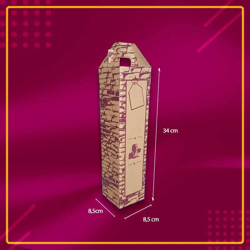 Caixa Embalagem para Garrafa - 25 unidades
