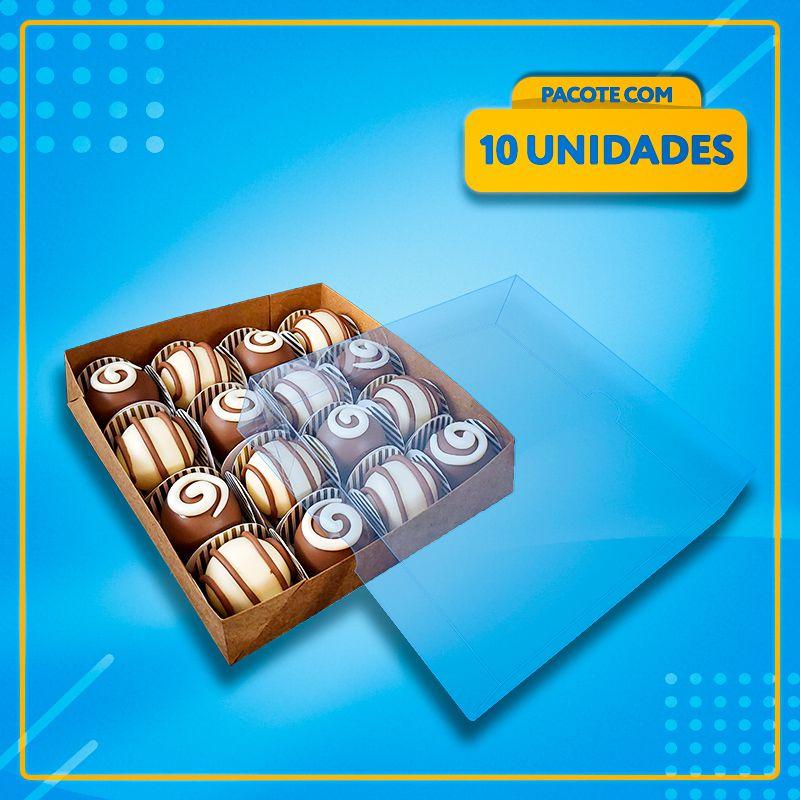 Embalagem com Visor para 16 Docinhos (ACETATO)