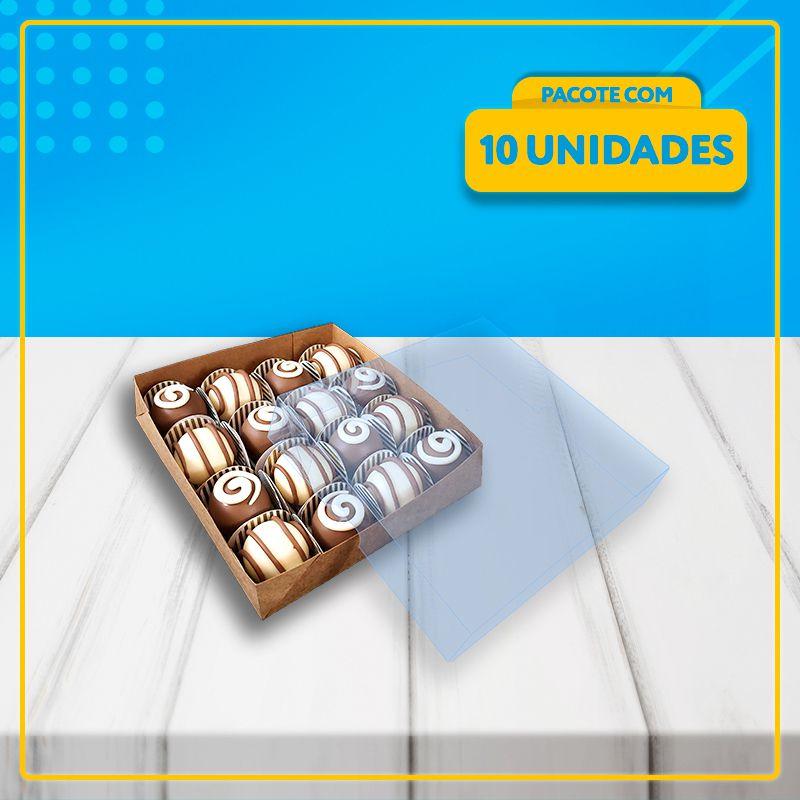 Embalagem com Visor para 16 Docinhos (ACETATO) KRAFT