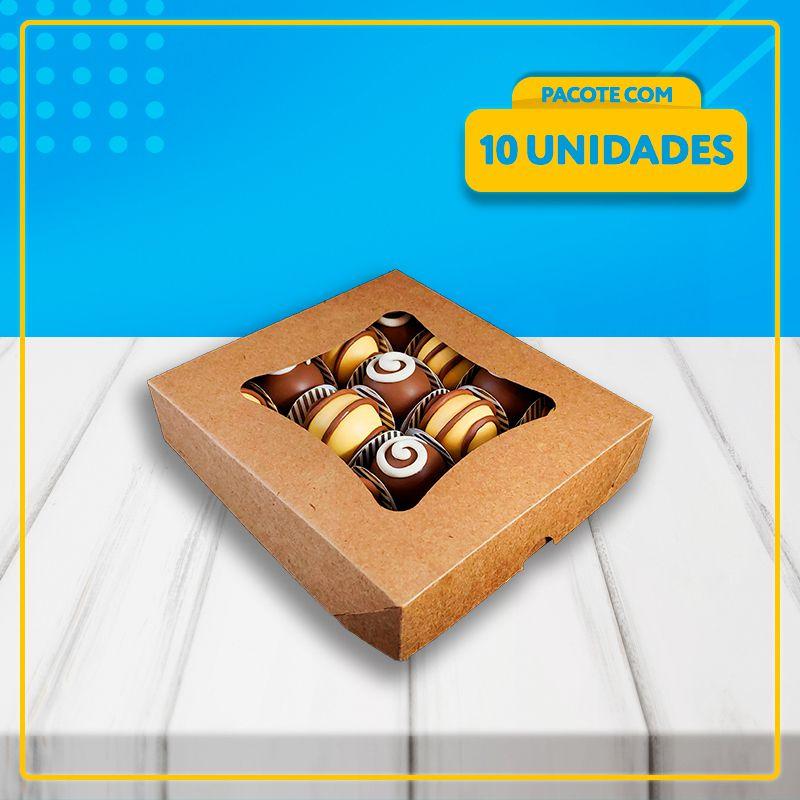 Embalagem com Visor para 16 Docinhos (KRAFT)