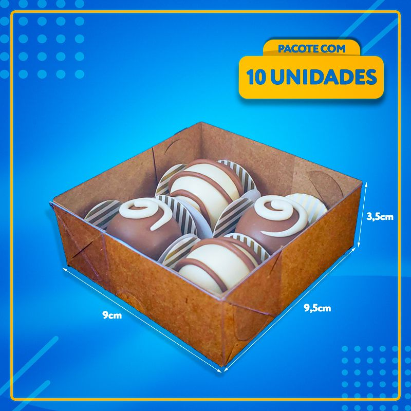 Embalagem com Visor para 4 Docinhos (ACETATO)