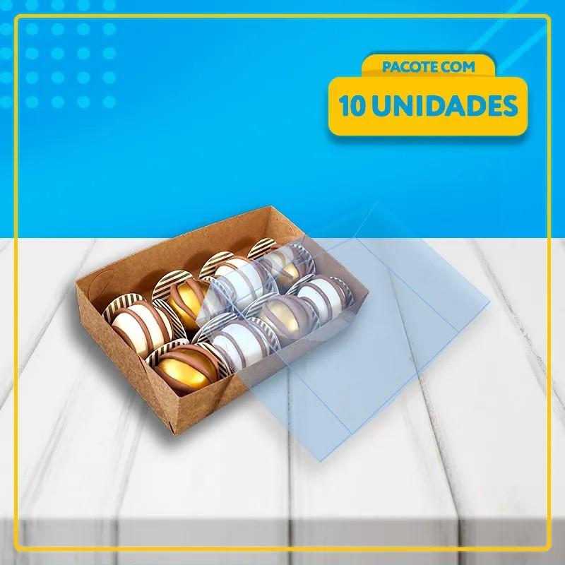 Embalagem com Visor para 8 Docinhos (ACETATO)