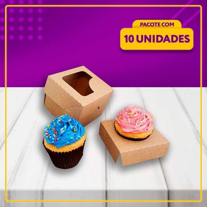 Embalagem para 1 Cupcake (KRAFT)