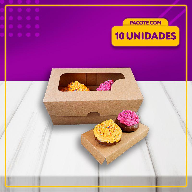 Embalagem para 2 Cupcakes (KRAFT)