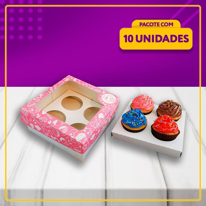 Embalagem para 4 Cupcakes