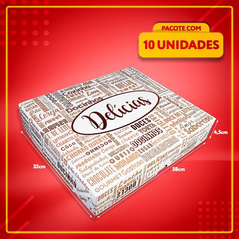 Embalagem para até 100 doces ou salgados