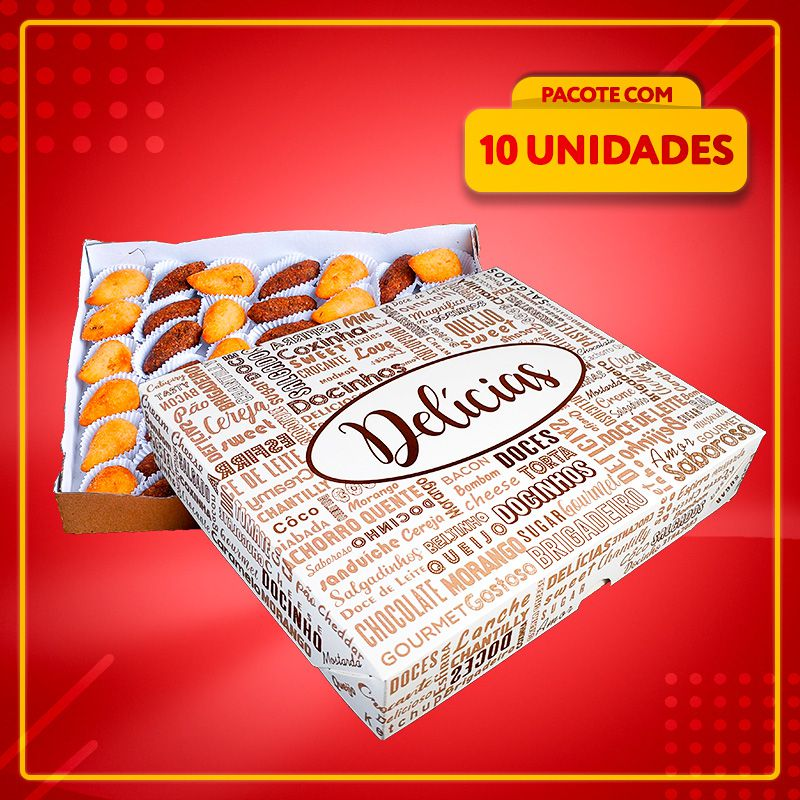 Embalagem para até 30 doces e salgados