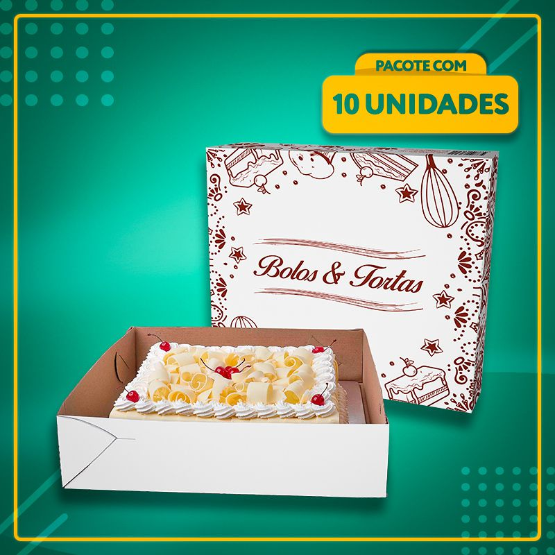 Embalagem para Bolos e Tortas Nº 4 (35x28x11)