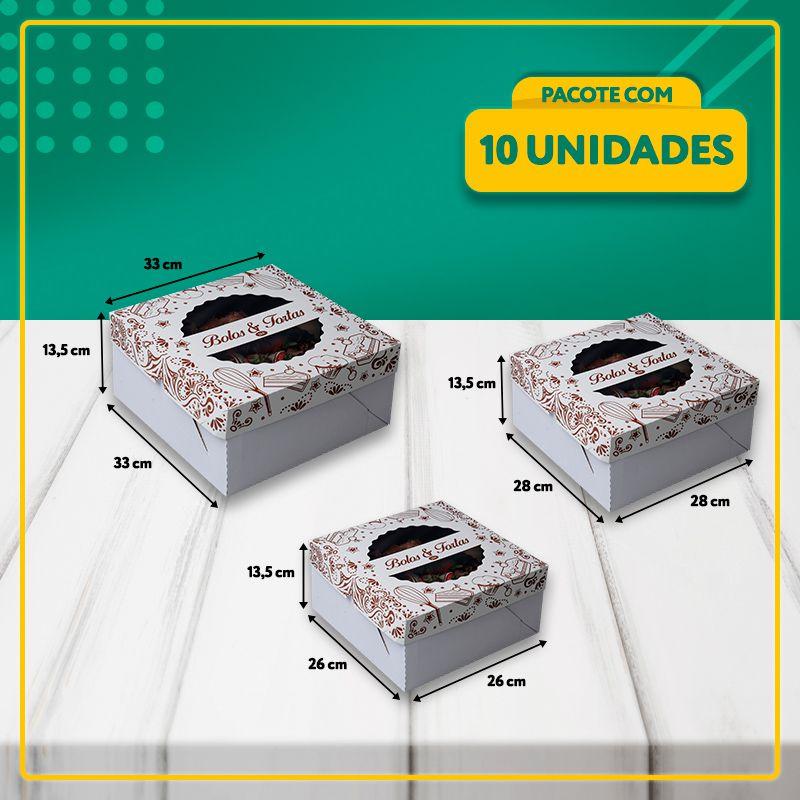 Embalagens com Visor para Bolos e Tortas (3 Tamanhos)