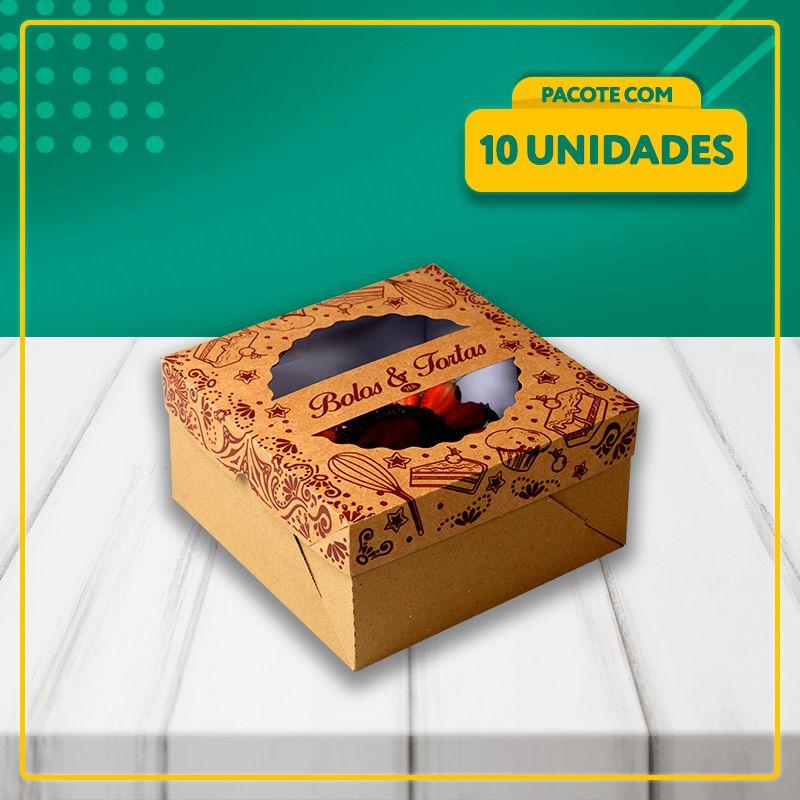 Embalagens com Visor para Bolos e Tortas KRAFT (3 Tamanhos)