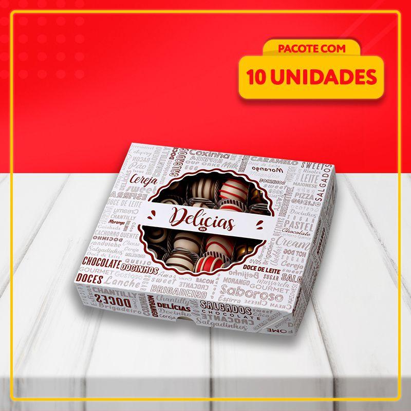Embalagens com Visor para Salgadinhos e Docinhos (3 Tamanhos)