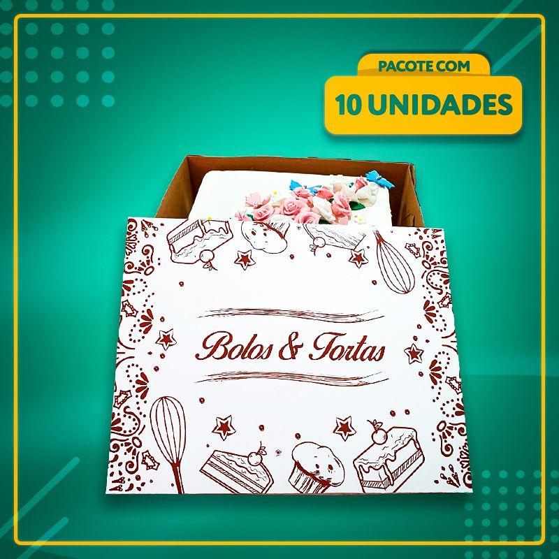 Embalagens para Bolos e Tortas Retangulares (4 Tamanhos)