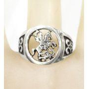 Anel de São Jorge vazado em prata 925