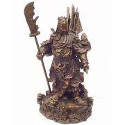 Guardião Guan Di das Cinco Soluções - médio (em bronze)