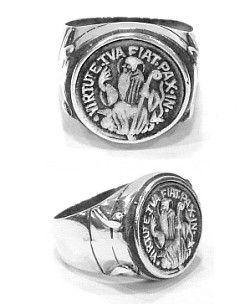 Anel de São Bento em Prata 925  - VIRAJ