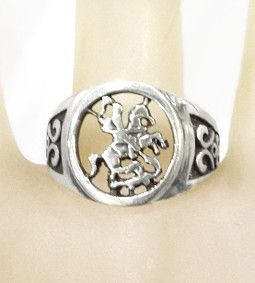 Anel de São Jorge vazado em prata 925  - VIRAJ