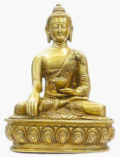 Buda Gautama em bronze (20 cm)  - VIRAJ
