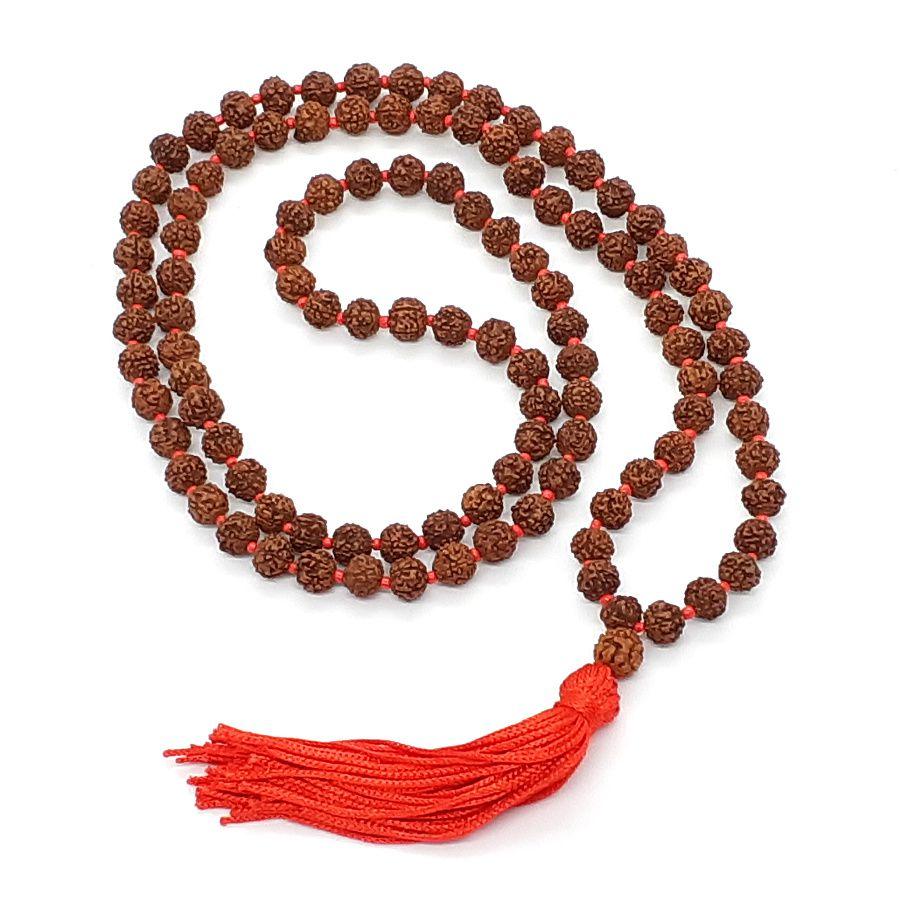 Japamala da India em Rudraksha (5 gomos)  - VIRAJ