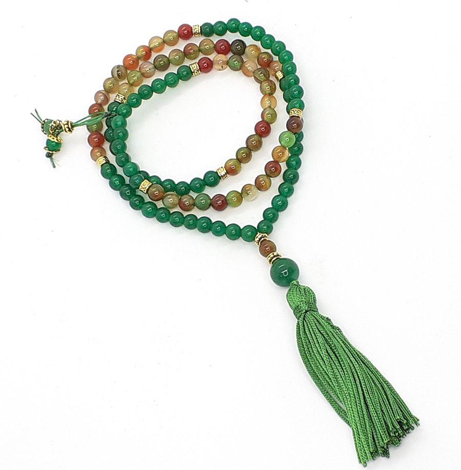 Japamala de Jade e Quartzo Multicor  - VIRAJ