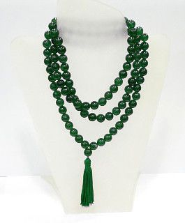 Japamala de Jade Verde - Grande (12 mm)  - VIRAJ
