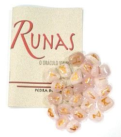 Runas de Quartzo Rosa com Manual  - VIRAJ