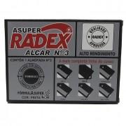 Almofada Para Carimbo N.3 Preta Asuper Radex