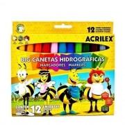 Big Canetas Hidrográficas 12Unid. Acrilex