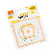 Bloco Auto-Adesivo Smart Notes Pão Com Ovo 3 Unid. com 20 Folhas Cada BRW