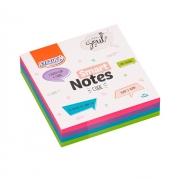 Bloco de Anotações Adesivo Smart Notes 4 Cores Cube 200 Folhas de 76x76mm - BRW