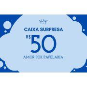 """Caixa Surpresa """"Amor Por Papelaria"""""""