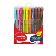 Caneta Trion Color Plus Kit com 10 Cores - Molin