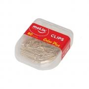 Clips Color Plus Dourado 28mm com 80 unidades - Molin