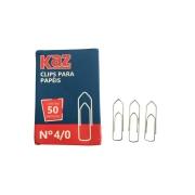 Clips para Papéis n°4 Com 50 Unidades - KAZ