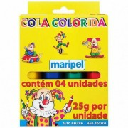 Cola colorida 4 unidades de 25g cada Maripel