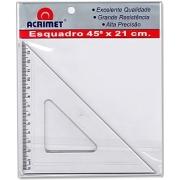 Esquadro Acrílico 45° x 21cm - Acrimet