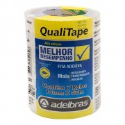 Fita Adesiva Qualitape 18mmx50m Transparente - 7 Rolos Adelbras