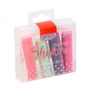 Glitter Shake Pastel Blister com 4 unidades de 7g cada - BRW