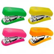 Grampeador Plástico Neon Mini Tamanho 6 - BRW