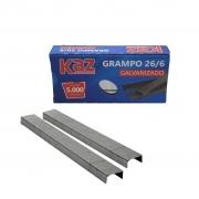 Grampo Galvanizado 26/6 Com 5000 Unidades - Kaz