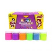 Guache Neon Heróis 6 Cores com 15ml cada - Radex
