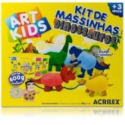 Kit De Massinhas Família Dinossauros Acrilex