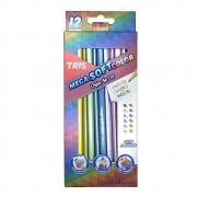 Lápis de cor 12 Cores Metálicas Mega Soft Color - Tris