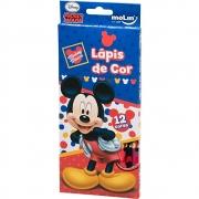 Lápis de Cor 12 Cores Mickey Mouse - Molin