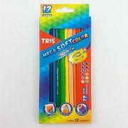 Lápis de cor 12 cores Tris mega soft color