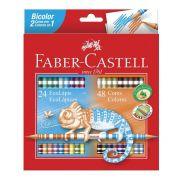 Lápis de Cor 48 Cores Bicolor Faber Castell