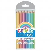 Lápis de Cor Criatic Tons Pastel 12 Cores Sextavado - Cis