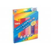 Lápis De Cor Mega Soft Color 48 Cores – Tris
