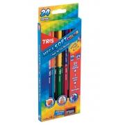 Lápis de Cor Mega Soft Color Bicolor 24 Cores - Tris